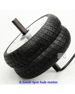 6.5 inch solid tyre BLDC brushless gearless dc hub wheel scooter motor phub-g65
