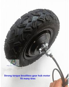 Strong torque brushless gear hub motor.scooter hub motor,hally motor,fit many tires phub-621