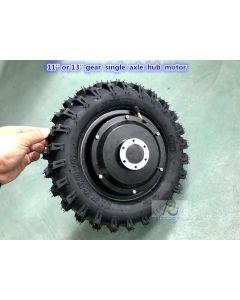 11 inch 11x3.50-6 tyre or 13 inch 13*5-6 tire Brushless gear low speed high torque single axle hub motor wheel phub-11hs