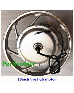 18inch Aluminium alloy one-wheel bike double axles dc wheel hub motor BLDC,Brushless non-gear kind phub-529