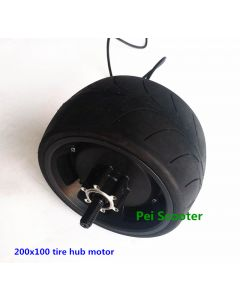 8inch super wide tire 200x100 tire Double axles Hub wheel motor with 200x100 tyre phub-810