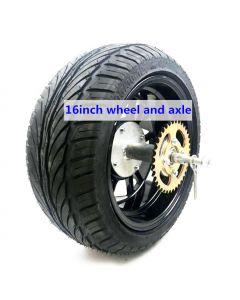 16 inch 205/30-12 wide tire Aluminium alloy beach hub wheel and axle and disc brake phub-16fa