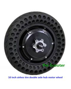 10 inch airless tire double axle hub motor wheel for balance scooter phub-10zm