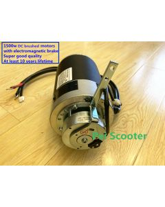 Super good 1500w brushed mobility scooter transaxle motor strong power with electromagnetic brake Differential motor PPSM124WL