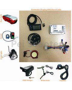 brushless motor scooter ebike conversion kits,controller and LCD display,throttle,brake lever,lights,USB charger all-01a