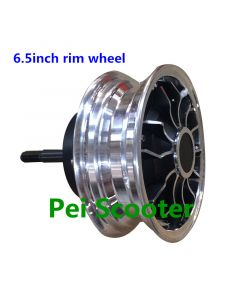 6.5inch rim DC single axle brushless gearless hub wheel Electric motorcycle scooter motor phub-230