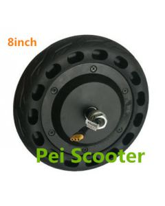8 inches tyre double axles brushless gearless dc hub front wheel motor for Balancing scooter phub-218