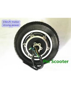 10 inch 10inch BLDC strong power brushless no-gear wheel hub motor double shafts,Tire is easy to disassemble phub-10sp