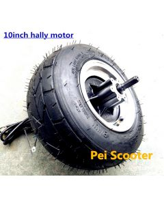 10inch 10 inch 10x6.5-5.5 wide tubeless tyre brushless gearless wheel hub motor,balance scooter hub motor,hally motor phub-238
