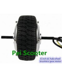 6 inch 6inch double shafts brushless gear dc scooter wheel hub motor with tire and hall sensor phub-269