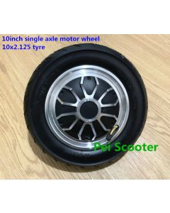 10 inch 10inch single shaft dc scooter hub wheel motor with 10x2.5 tyre phub-350