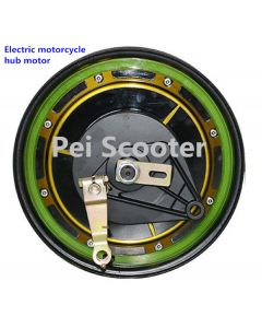 11inch rim double axles brushless gearless drum brake dc hub wheel Electric motorcycle motor phub-220
