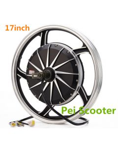 17inch Double axles strong power Electric scooter Hub wheel motor with tire phub-356
