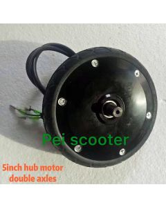 5 inch super thin double shaft brushless non-gear electric scooter dc wheel hub motor phub-555