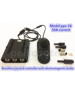 50A brushless wheelchair robot scooter dc motor joystick controller with electromagentic brake pps-16