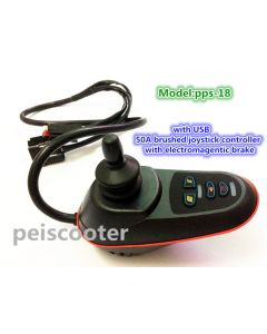 50A brushed electric wheelchair robot scooter joystick controller with electromagnetic brake with USB pps-18