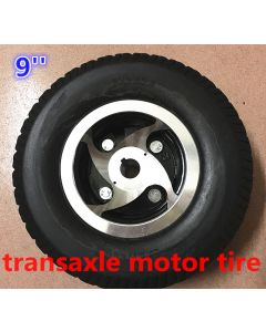 9 inch 9x3.50-4 solid tyre for transaxle motor mobility scooter tyre kit phub-160a
