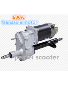 600w brushed geared transaxle dc motor for scooter golf car  with electromagnetic brake PPSM105D-01