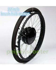 22 inch 22inch brushed geared wheelchair hub motor 180w with electromagnetic brake phub-22