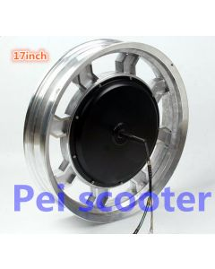 17inch 60v 1200w big power brushless gearless dc wheel hub motor for one wheel motorcycle phub-142