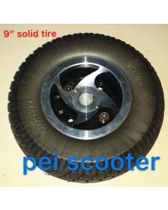 9 inch solid tyre for scooter wheelchair motor kit phub-160