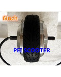 6 inch 6inch double shafts brushless gear dc wheel hub balance scooter motor with tire phub-162