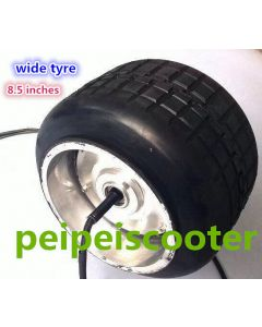 8.5 inch super wide tire balance scooter one-wheel dc brushless gearless double shafts hub wheel motor phub-177