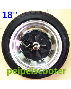 18inch 18 inch super widen tubeless tyre brushless no-gear hally hub wheel motor strong power phub-187