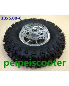 13inch 13 inch 13*5.00-6 tire wheel with disc brake without motor for phub-163 motor phub-163f