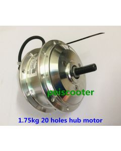 1.75kg 20 holes brushless gear dc hub wheel motor for electric bicycle DIY front wheel drive phub-83h