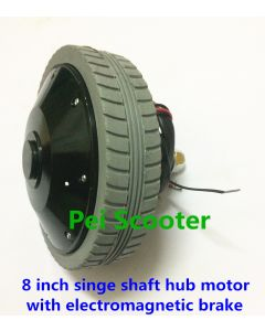 8 inch 8inch single shaft brushed geared dc hub motor 180w with electromagnetic brake phub-18