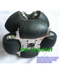 8 inch brushless non-gear robot scooter motor mecanum wheel Model:phub-m88