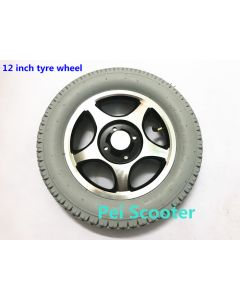 12inch 12 inch aluminum alloy inflatable rear wheel motor drive wheel anti-slip wheel tires phub-12t