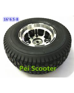 16inch 16 inch 16*6.5-8 aluminum alloy hub wheel tires for wheelchair scooter robot motor phub-16st