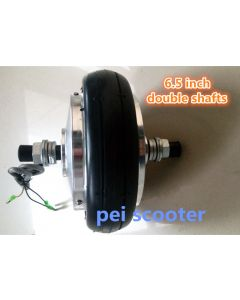6.5 inch 6.5inch double shaft 250w brushless geared dc hub motor for scooter DIY double axle hub motor phub-158