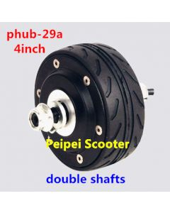 4 inch 4inch double shaft brushless gearless dc electric scooter hub wheel motor BLDC phub-29a