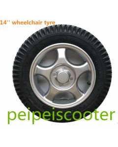 14 inch Aluminum alloy wheelchair inflatable tyre wheel ppwt-01