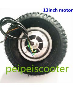13inch 13 inch with vacuum tire Double shafts dc hub wheel motor BLDC brushless gearless self-balancing scooter hub motor phub-170