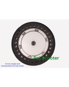 8 inch honeycomb tire single axle brushless gearless dc scooter hub wheel motor with hall sensor phub-8ch