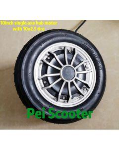 10 inch 10inch single shaft dc scooter hub wheel motor with 10x2.5 tyre phub-350